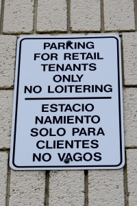 Parking for Retail Tenants Only No Loitering Sign - Free High Resolution Photo