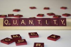 Quantity - Free High Resolution Photo of the word Quantity spelled in Scrabble tiles