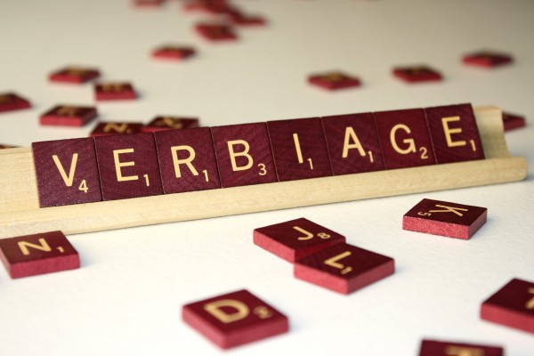 Verbiage - Free High Resolution Photo of the word Verbiage spelled in Scrabble tiles