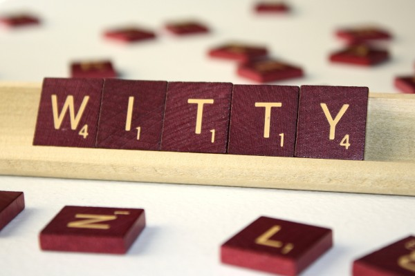 Witty - Free High Resolution Photo of the word Witty spelled in Scrabble tiles
