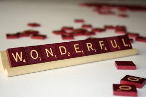 Wonderful - Free High Resolution Photo of the word wonderful spelled in Scrabble tiles