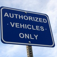 Authorized Vehicles Only Sign - Free High Resolution Photo