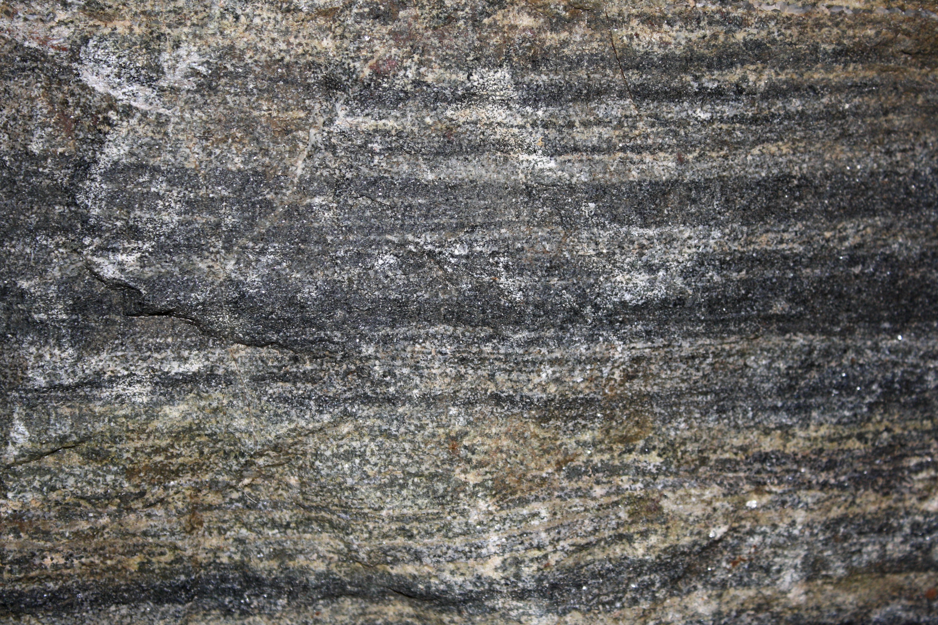 Banded Biotite Mica Schist Rock Texture