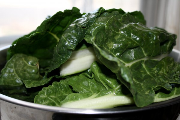 Bowl of Swiss Chard Leaves - Free High Resolution Photo
