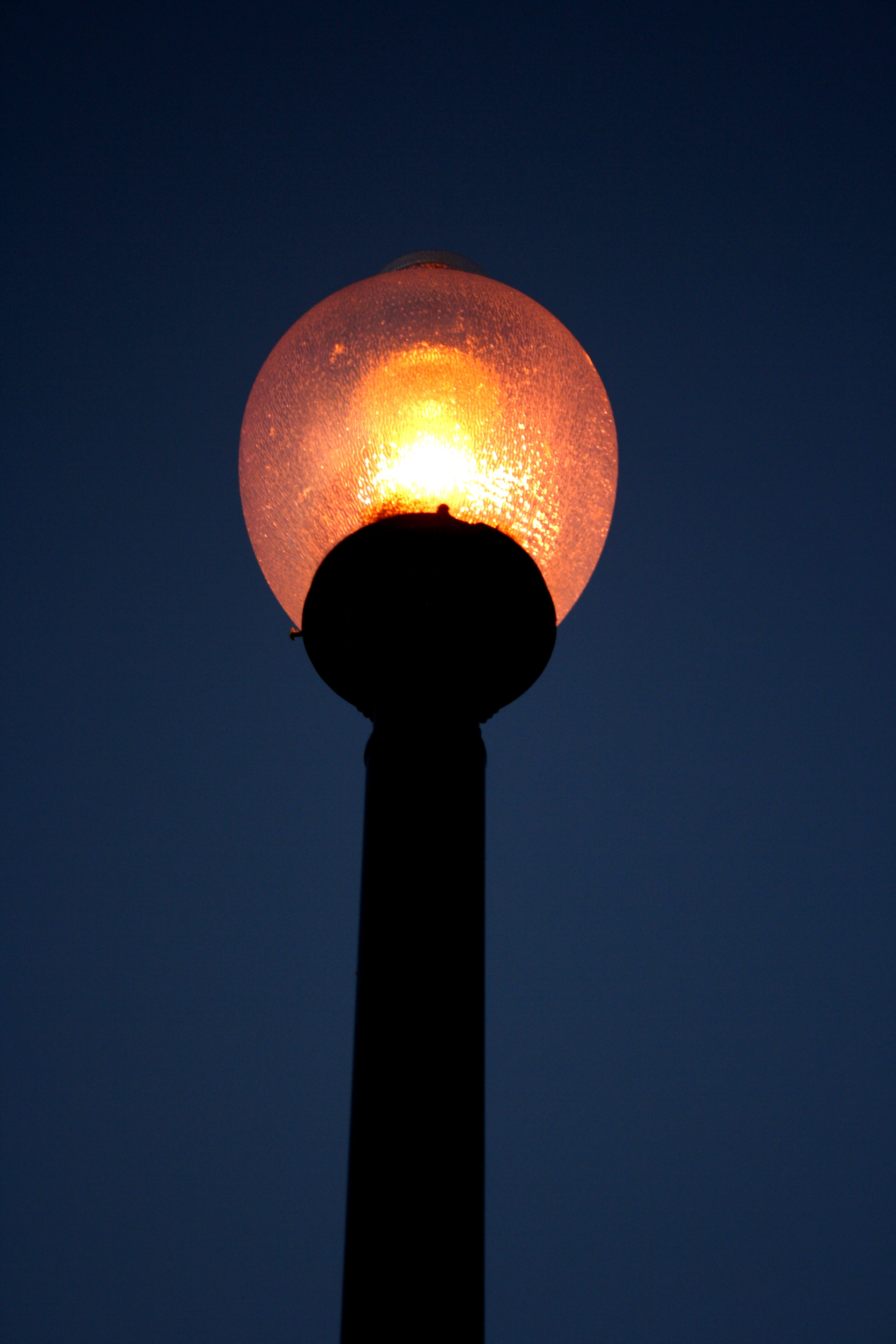 Decorative Lighted Street Lamp At Night Picture Free