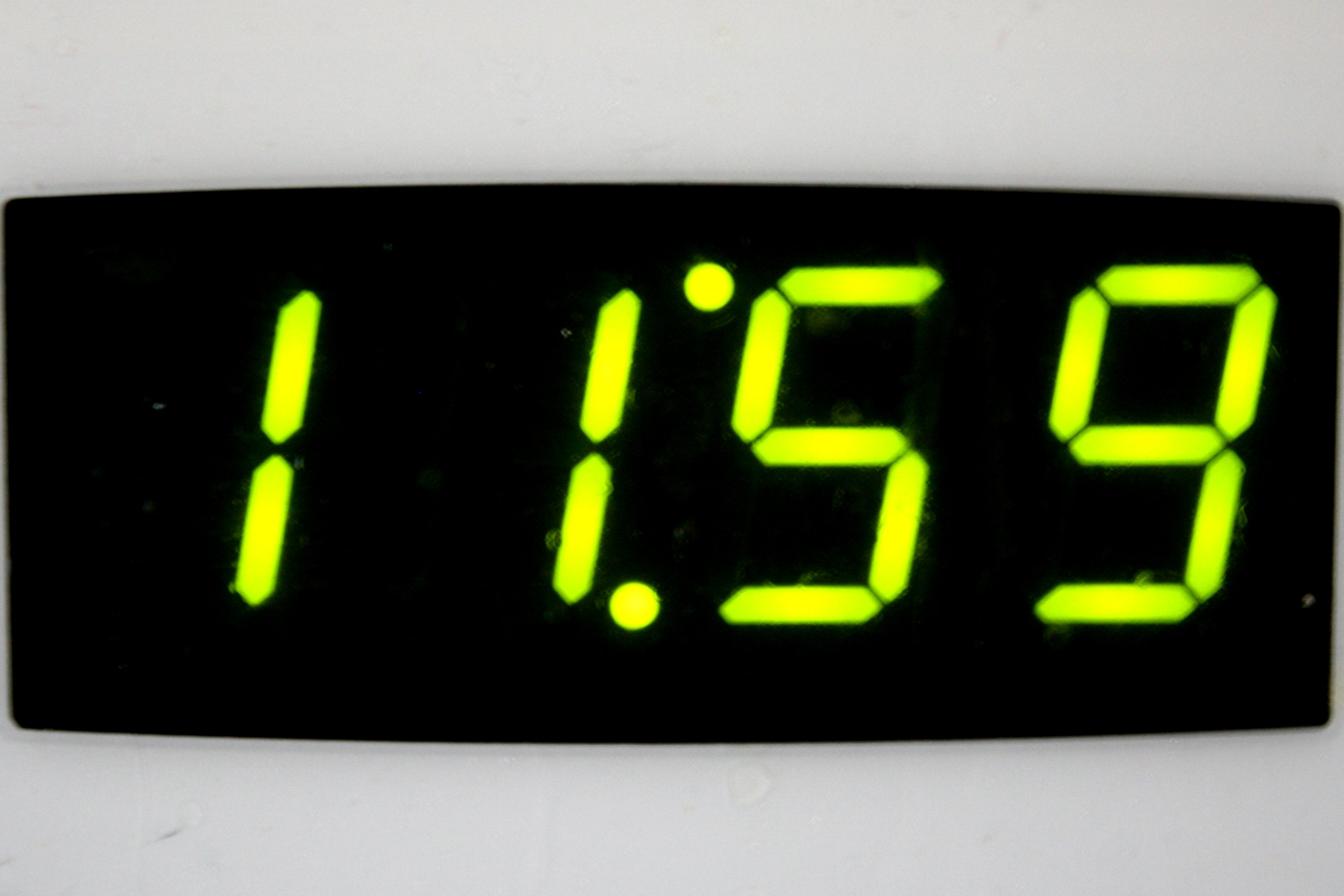 Digital Clock Reading 11:59