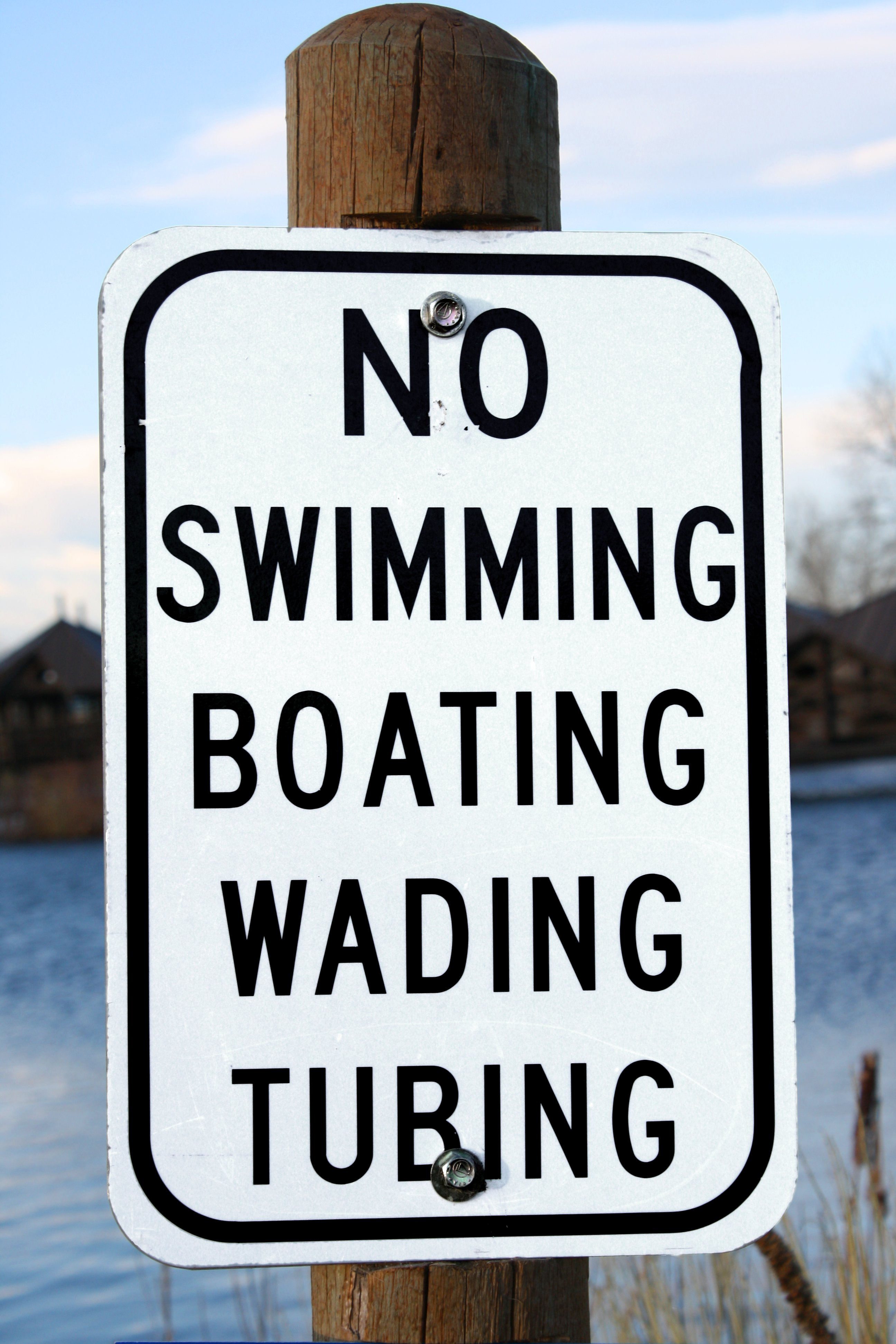 No Swimming Boating Wading Or Tubing Sign Picture Free