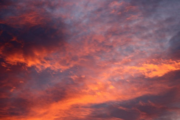 Orange Clouds at Sunrise - Free High Resolution Photo
