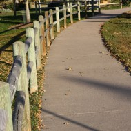 Path with Wooden Post and Rail Fence - Free High Resolution Photo