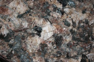 Pegmatite Rock Texture with Feldspar and Black Biotite Mica - Free High Resolution Photo