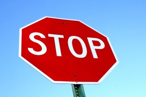 Stop Sign with Blue Sky - Free High Resolution Photo