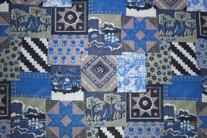 Blue Patchwork Quilt Fabric Texture - Free High Resolution Photo