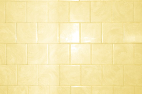 Butterscotch Yellow Bathroom Tile with Swirl Pattern Texture - Free High Resolution Photo