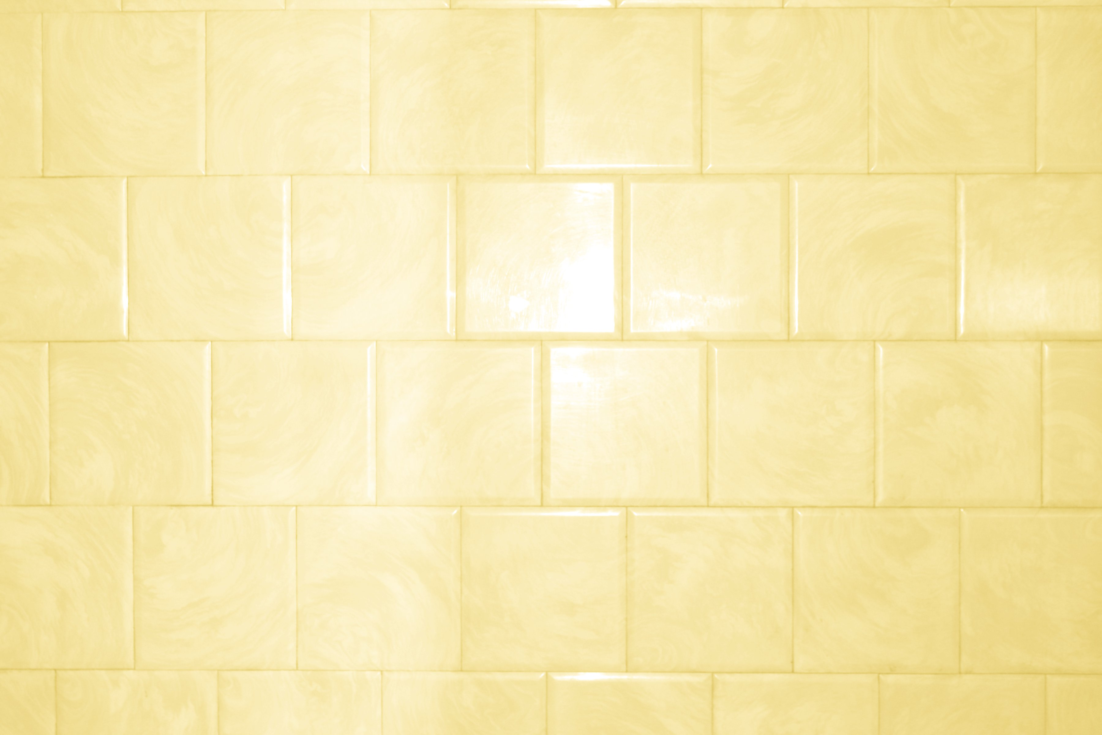 Butterscotch Yellow Bathroom Tile With Swirl Pattern Texture