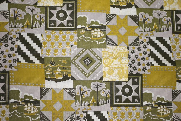 Gold Patchwork Quilt Fabric Texture - Free High Resolution Photo