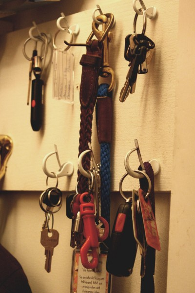 Keys Hanging on Hooks in Closet - Free High Resolution Photo