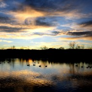 Sunset Over the Lake - Free High Resolution Photo