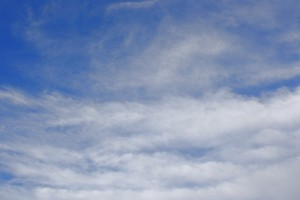 White Wispy Clouds in Blue Sky - Free High Resolution Photo