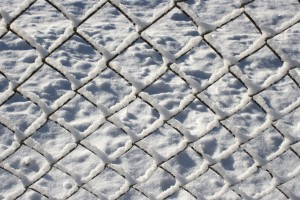 Chain Link Fence Coated with Snow - Free High Resolution Photo