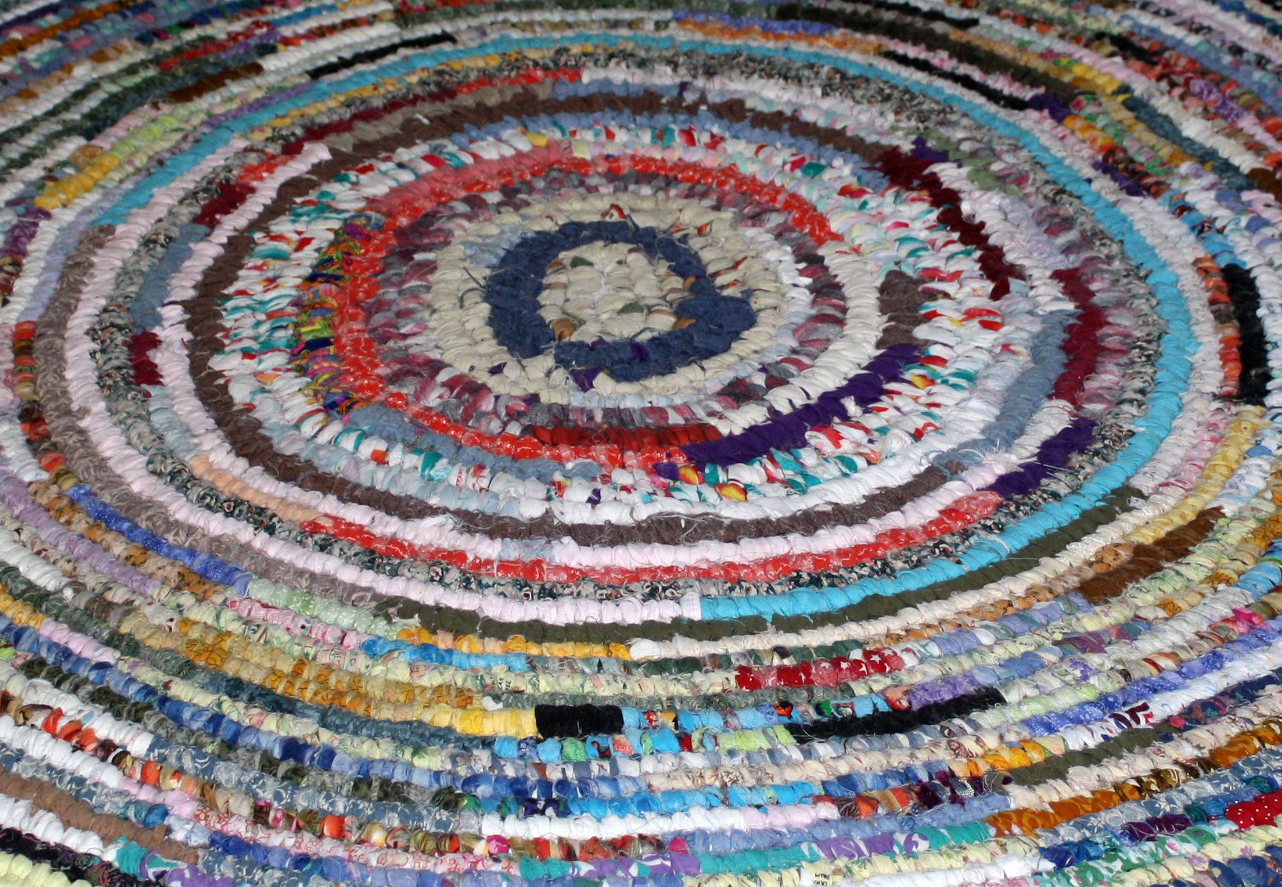 Colorful Rag Rug Texture Picture Free Photograph