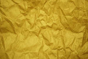 Crumpled Gold Paper Texture - Free High Resolution Photo
