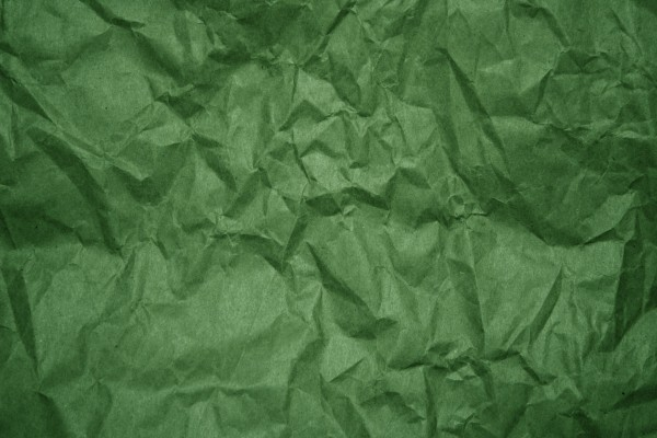 Crumpled Green Paper Texture - Free High Resolution Photo
