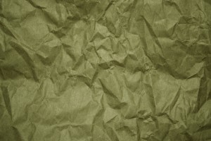 Crumpled Olive Green Paper Texture - Free High Resolution Photo