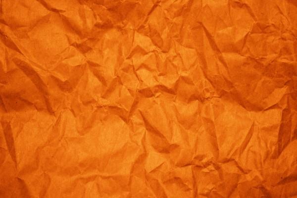 Crumpled Orange Paper Texture - Free High Resolution Photo
