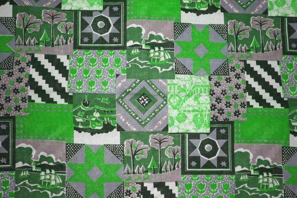 Green Patchwork Quilt Fabric Texture - Free High Resolution Photo