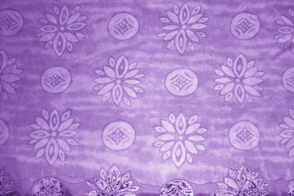 Purple Fabric Texture with Flowers and Circles - Free High Resolution Photo