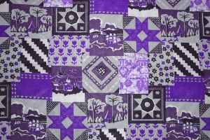 Purple Patchwork Quilt Fabric Texture - Free High Resolution Photo