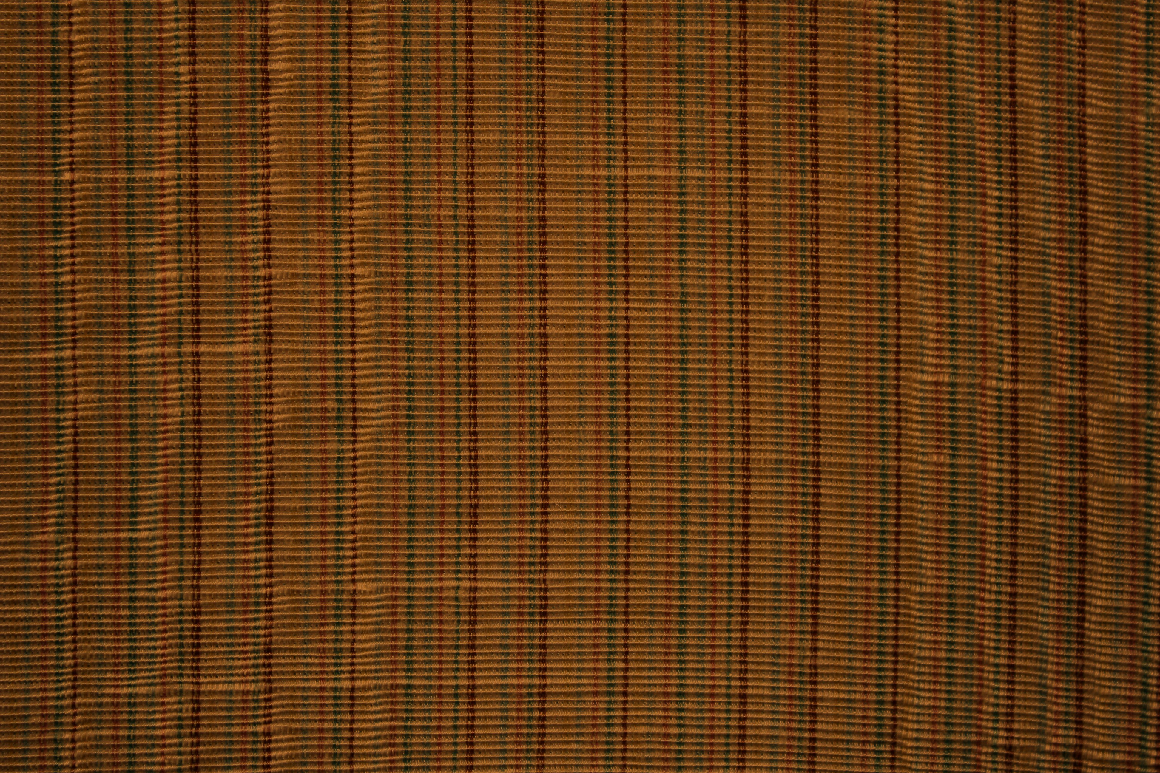 Rust Brown Upholstery Fabric Texture with Stripes Picture | Free ...