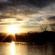Setting Sun at the Lake - Free High Resolution Photo