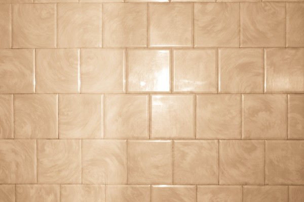 Tan Bathroom Tile with Swirl Pattern Texture - Free High Resolution Photo