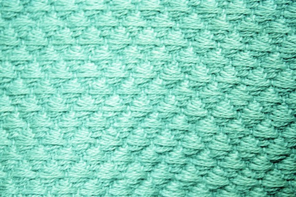Teal Diamond Patterned Blanket Close Up Texture - Free High Resolution Photo
