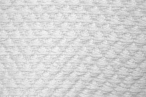 White Diamond Patterned Blanket Close Up Texture Picture
