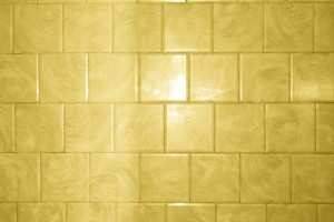 Yellow Bathroom Tile with Swirl Pattern Texture - Free High Resolution Photo