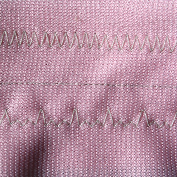 Zig Zag Stitches on Pink Fabric - Free High Resolution Photo