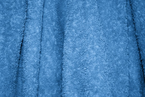 Blue Terry Cloth Bath Towel Texture - Free High Resolution Photo