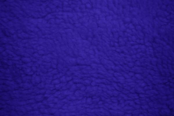 Fleece Faux Sherpa Wool Fabric Texture Royal Blue - Free High Resolution Photo
