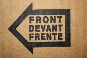 Front Arrow on Cardboard Box - Free High Resolution Photo