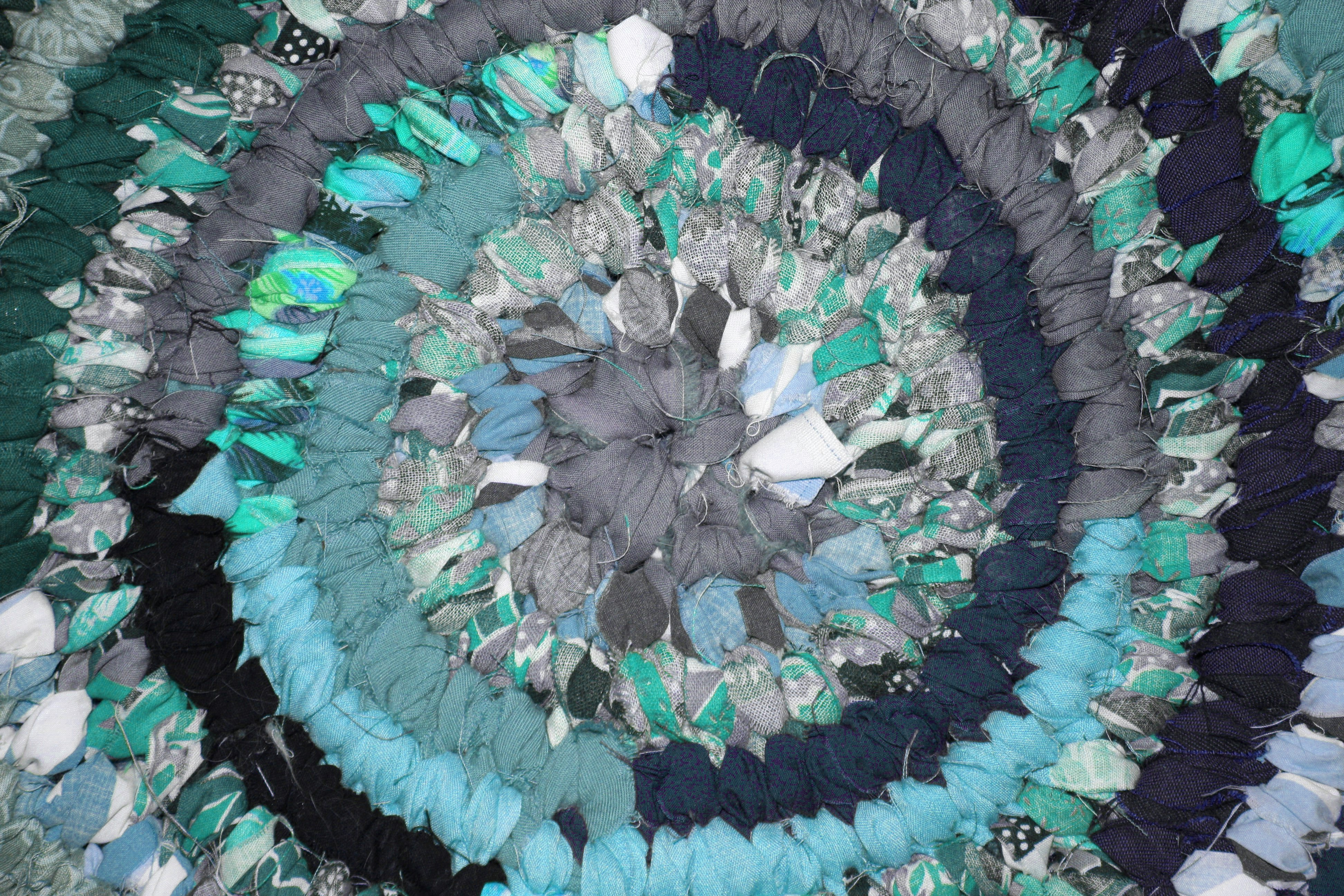 Rag Rug Close Up Texture Teal Picture Free Photograph