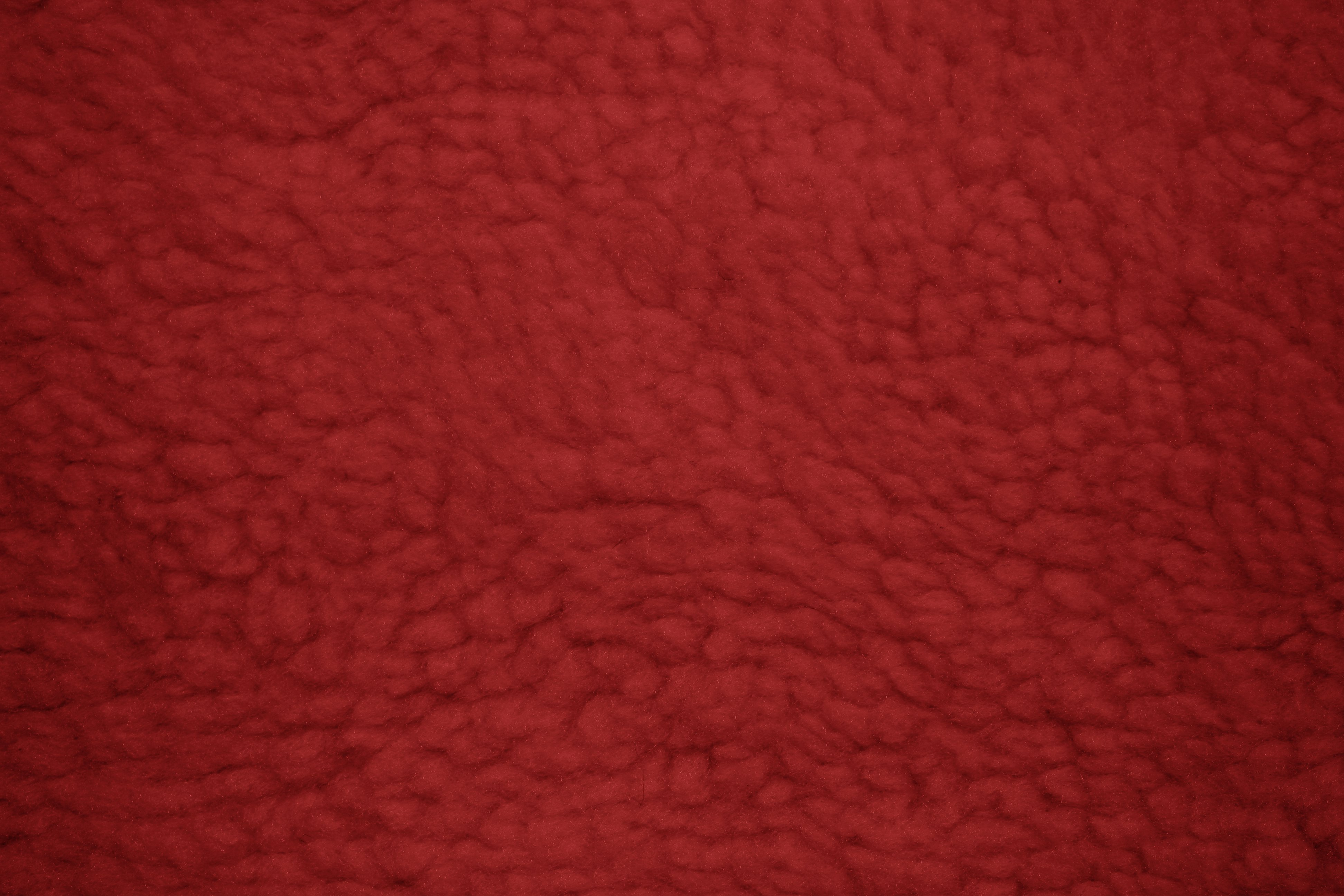 Red Fleece Faux Sherpa Wool Fabric Texture Picture Free Photograph