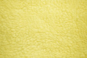 Yellow Fleece Faux Sherpa Wool Fabric Texture - Free High Resolution Photo
