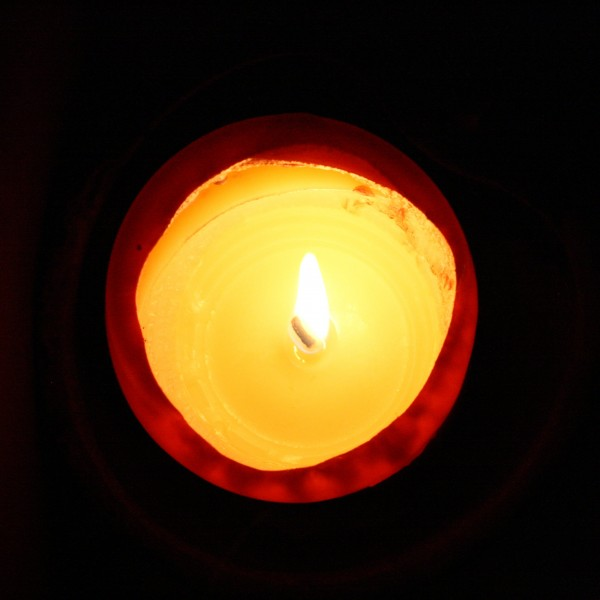 Burning Candle from Above - Free High Resolution Photo