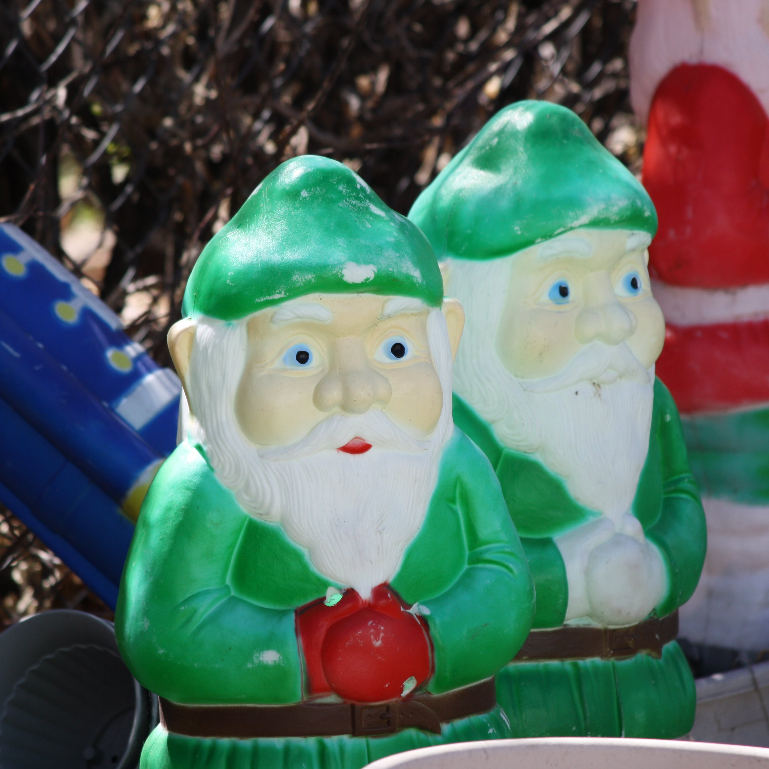 christmas elves plastic lawn ornaments