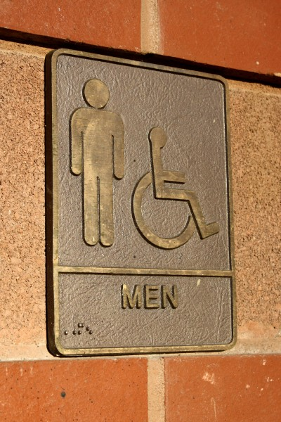Men S Restroom Sign Brass Plaque Picture Free Photograph