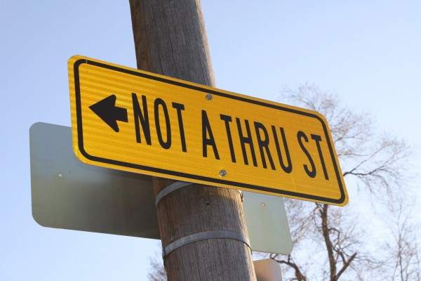 Not a Thru Street Sign - Free High Resolution Photo