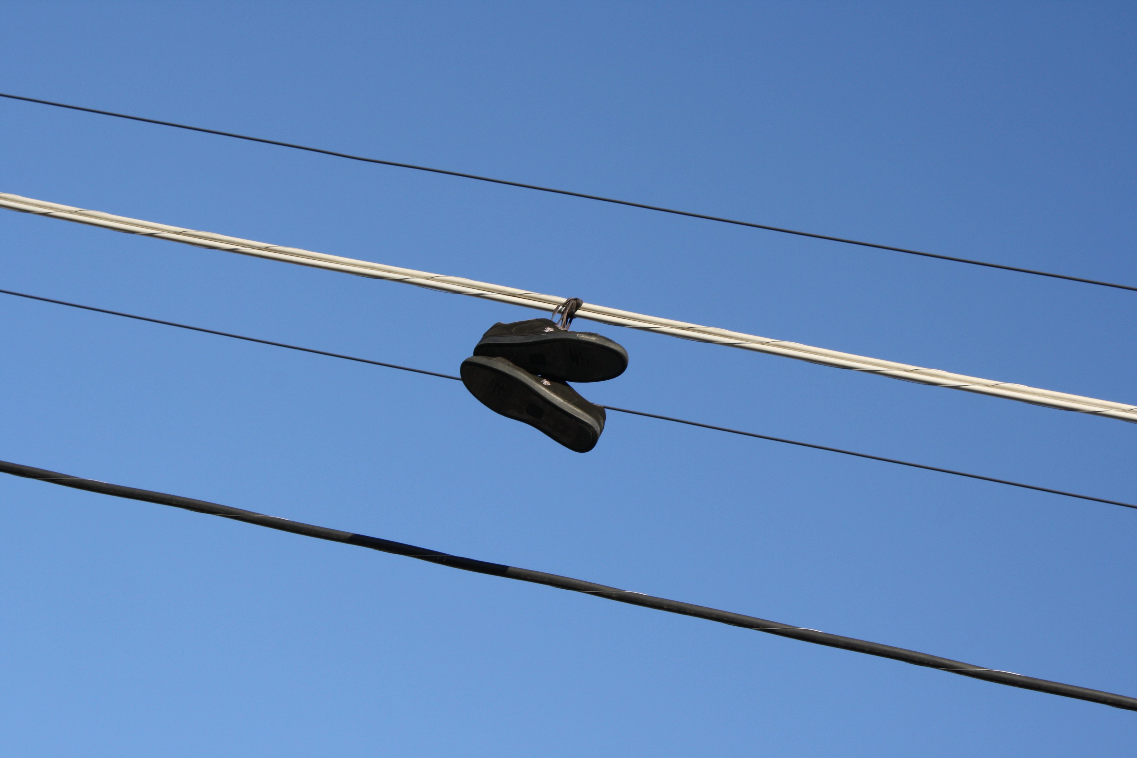 Tennis Shoes On Wires