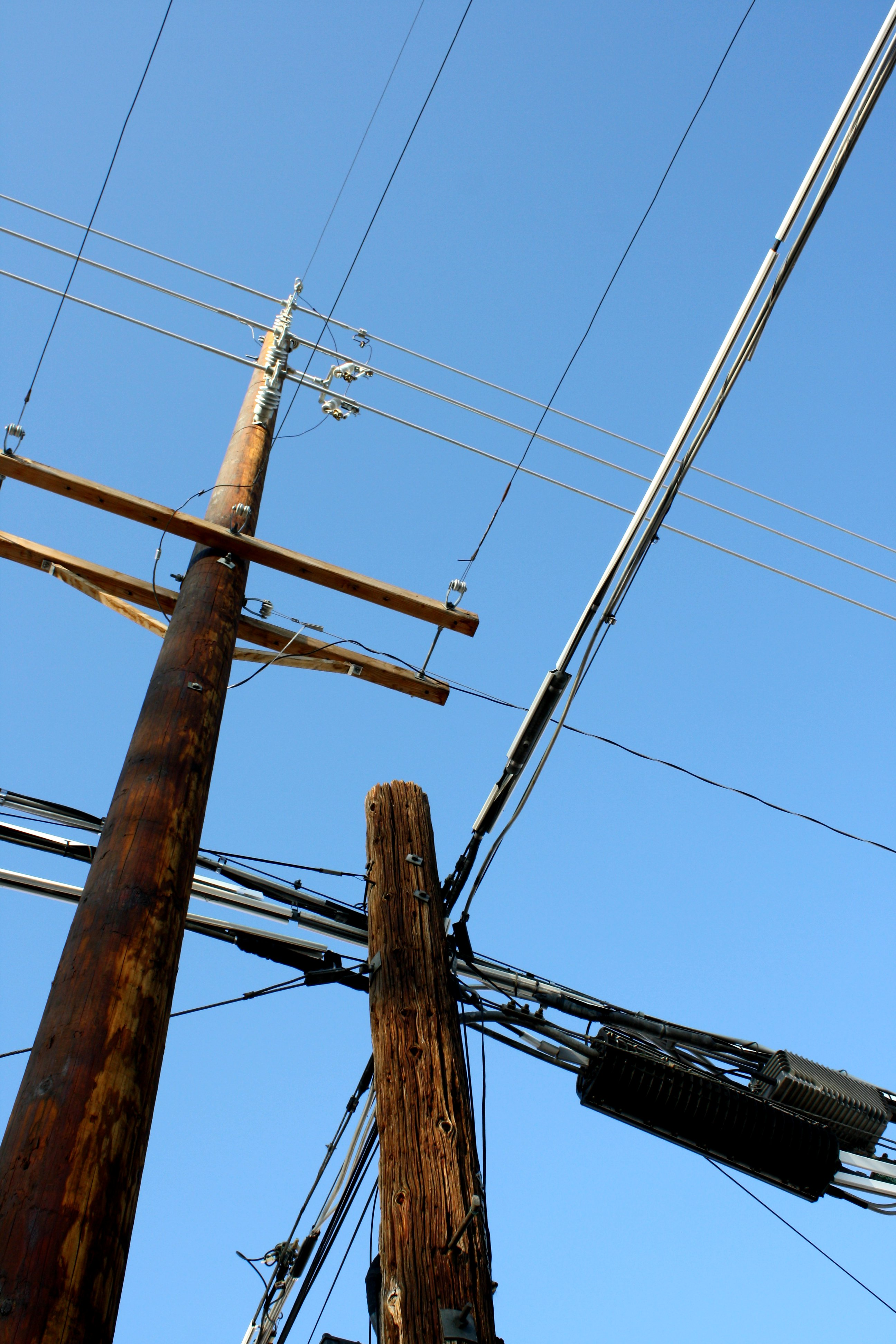 Telephone Poles And Power Lines Picture Free Photograph